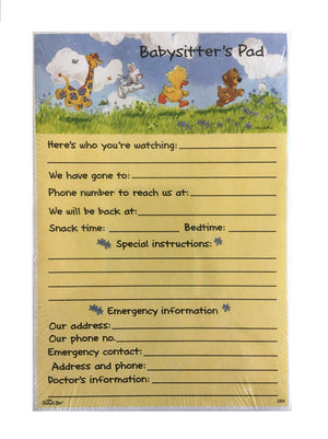 "Little Suzy's Zoo Witzy Duck & Gang Babysitter's Message Taker Memo Note Pad 4.5"" x 6 5/8"""