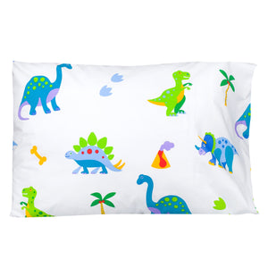 "Dinosaur Land Cotton Pillowcase 20"" x 30"""