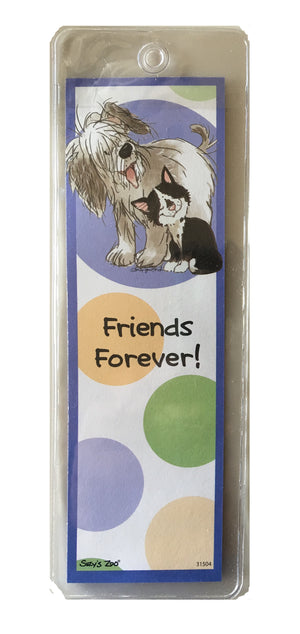 Suzy's Zoo Friends Forever Cat & Dog Bookmark - Wags & Whiskers