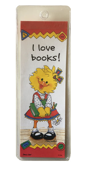 Suzy's Zoo Suzy Ducken Bookmark - I Love Books