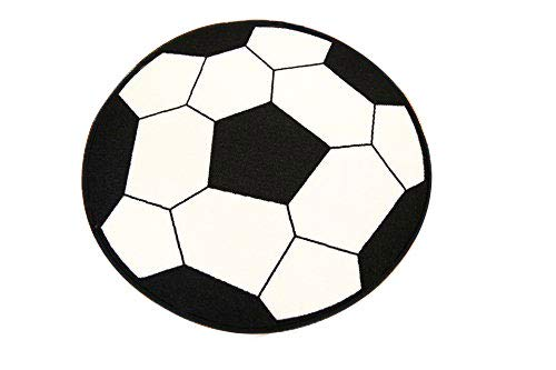 "Soccer Ball Round 3'3"" or 6'6"" Sports Rug"