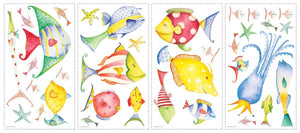Tropical Fish Wall Stickers Sea Creatures Decals for Kids