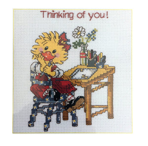Suzy's Zoo Vintage Counted Cross Stitch Kit Suzy Ducken Thinking of you!