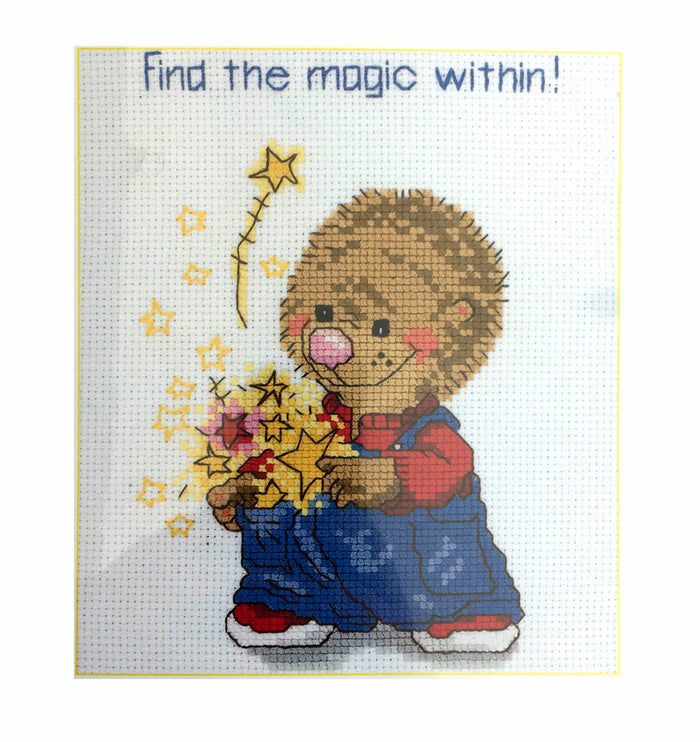Suzy's Zoo Vintage Counted Cross Stitch Kit Ollie Marmot's Magic Within
