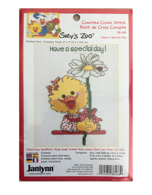 Suzy's Zoo Vintage Counted Cross Stitch Kit Suzy Ducken Have a Special Day!