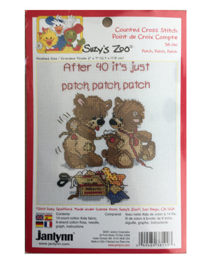 Suzy's Zoo Vintage Counted Cross Stitch Kit Two Bears Patch
