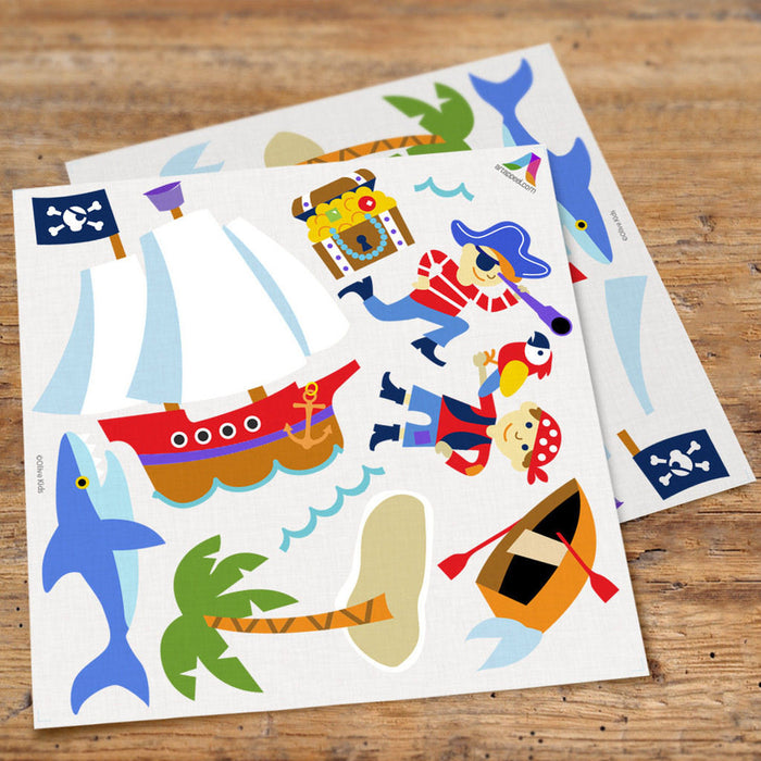 Pirates Pirate Ships Treasure Islands Wall Decals Peel & Stick Stickers
