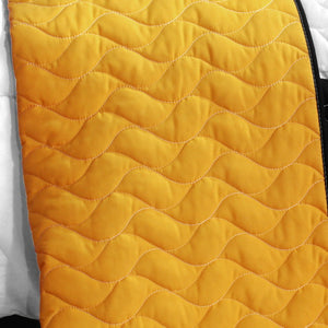 Black White Yellow & Red Checkered Teen Boy Bedding Full/Queen Quilt Set - back