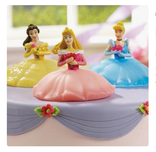 Disney Princesses Birthday Cake Party Topper Light Up Deco Kit - Cinderella Belle Aurora