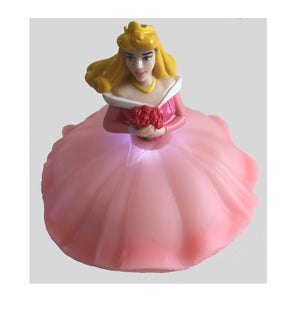 Aurora Sleeping Beauty Cake Topper - Shown with Light