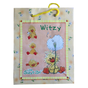 Little Suzy's Zoo Yellow Witzy Duck Medium Gift Bag with Tag