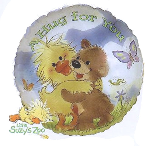 "Little Suzy's Zoo Hug For You Witzy Duck & Boof Bear 18"" Party Balloon - Love, Valentine, Birthday, Friendship, Baby, Get Well"