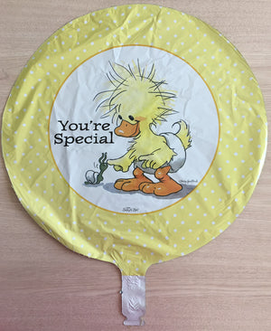 "Little Suzy's Zoo Yellow Witzy Duck & Snail You're Special 18"" Party Balloon - New Baby, Love, Friendship, Birthday"