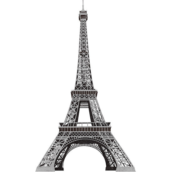 "Paris 56"" Eiffel Tower Peel & Stick Giant Wall Decal Mural"