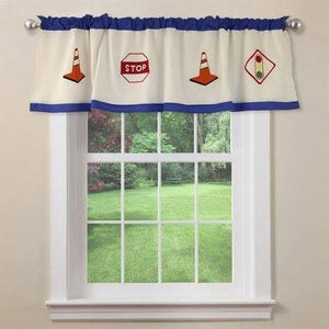 Construction Zone Kids Window Valance
