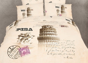 Tower or Pizza Italy Bedding Twin Queen King Duvet Cover Set Designer Ensemble