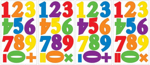Colorful Numbers Wall Stickers Decals Kids Room Decor