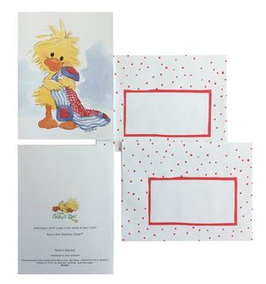 Little Suzy's Zoo Witzy's Blaket Memo Note Cards - 2 CT - Yellow Baby Duck