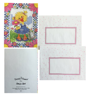 Suzy's Zoo Polly's Flowers Memo Note Cards - 2 CT - Flowers & Friends