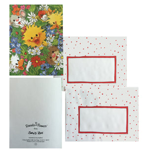 Suzy's Zoo Peeking Friends Memo Note Cards - 2 CT - Flowers & Friends