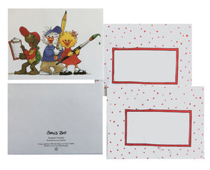 Suzy's Zoo School Artists Memo Note Cards - 2 CT - Suzy Jack Corky
