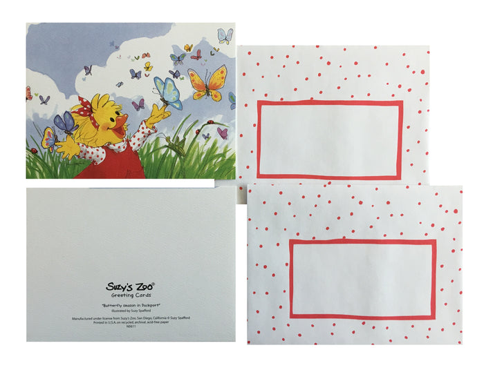 Suzy's Zoo Suzy & Butterflies Memo Note Cards - 2 CT