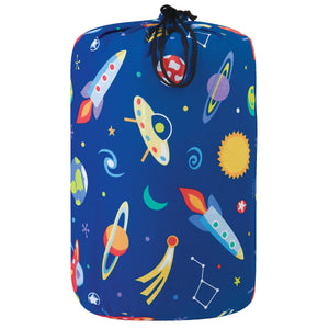 Galaxy Outer Space Blue Kids Junior Sleeping Bag 3pc Set for Boys