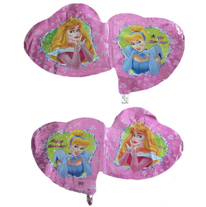 "Disney Princesses Aurora Cinderella Heart-Shaped 36"" Jumbo Super-Shape Pink Birthday Party Balloon"