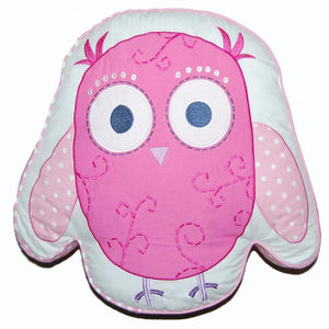 PInk Owl Shaped Pillow
