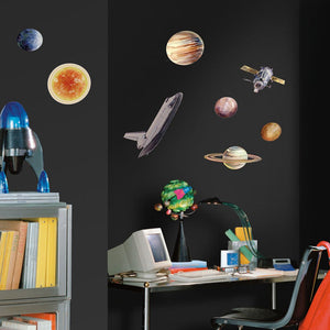 Space Travel Peel & Stick Wall Decals Stickers Outer Space Solar System Planets