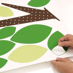 "68"" Dotted Tree Wall Mural Peel & Stick Kids Wall Mural"