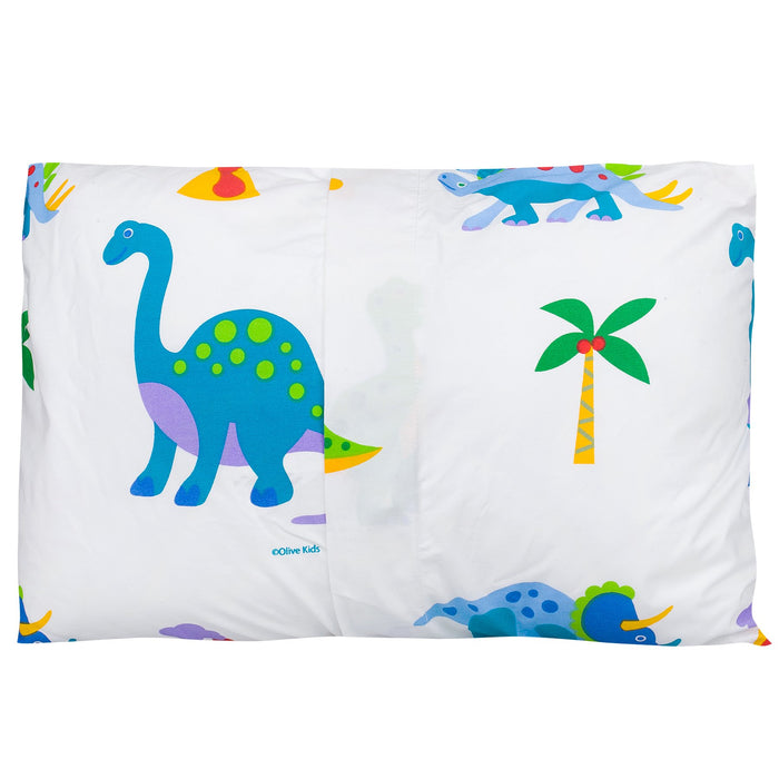"Dinosaur Land Cotton Toddler Pillowcase 19"" x 13.5"""