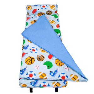 Blue Sports Games Nap Mat -Child/Toddler Girl Sleeping Bag