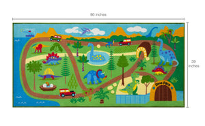 "Dinsaurs Educational Play Rug 39"" x 80"""