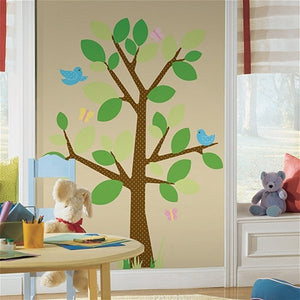 Giant Cherry Tree Wall Decal Sticker Brown Vinyl Wallpaper Mural for Kids Room or Nursery