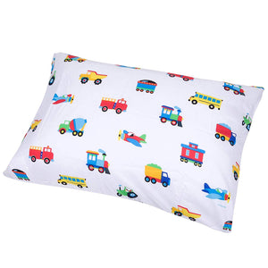 Trains Planes Trucks Microfiber Pillowcase
