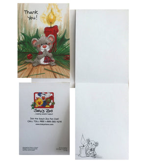 Suzy's Zoo Christmas Mouse Thank Cards 2 CT