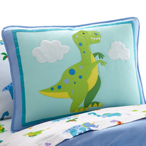 T-Rex Dinosaur Kids Pillow Sham