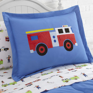 Rescue Heroes Police Ambulance Fire Trucks Microfiber Bed in a Bag Toddler Twin Full Bedding Comforter & Sheet Set