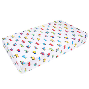 Trains, Planes Trucks Fitted Crib Sheet - Microfiber