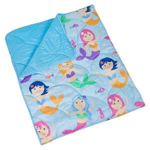 Sea Mermaids Microfiber Bed in a Bag Toddler Twin Full Girl Bedding Comforter & Sheet Set