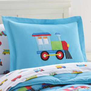 Trains Planes Trucks Fire Trucks Microfiber Bed in a Bag Toddler, Twin, Full Bedding Comforter & Sheet Set