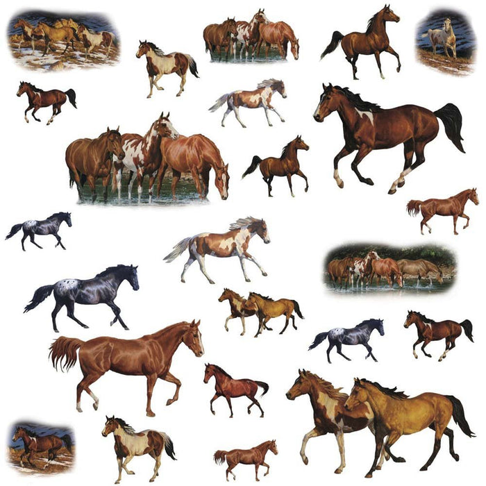 Wild Horses Peel & Stick Wall Decals Stickers Life-Like