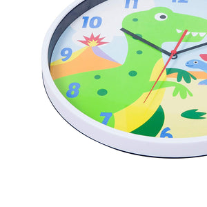 "Dinosaur T-Rex Kids 12"" Wall Clock"