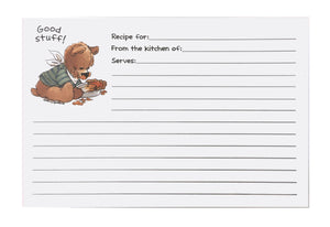 Suzy's Zoo Bear with a Pie Recipe Cards 2 CT