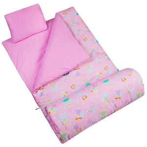 Pink Fairy Sleeping Bag & Pillow Set for Girls