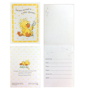Little Suzy's Zoo Baby Shower Invitation Cards 2 CT - Witzy's Wish Yellow Duck