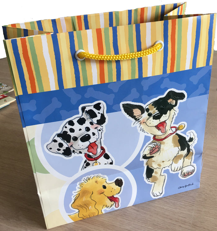 Suzy's Zoo Wags Dogs of Duckport Medium Gift Bag