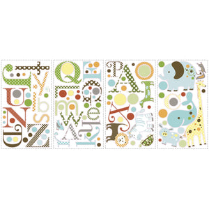 Animal Alphabet Kids Wall Decals Stickers Peel & Stick