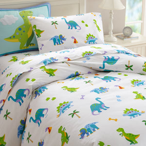 Dinosaur Cotton Duvet Cover Twin Full/Queen Kids Bedding
